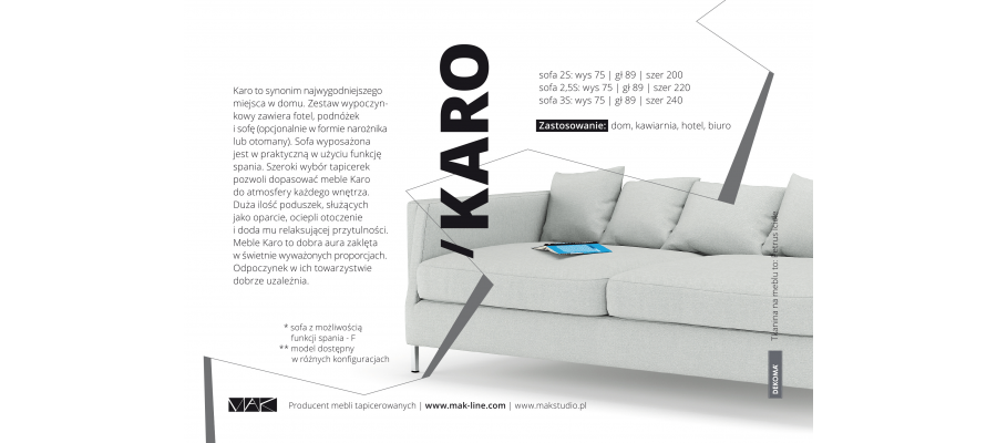 Florence  3-sitzer sofa